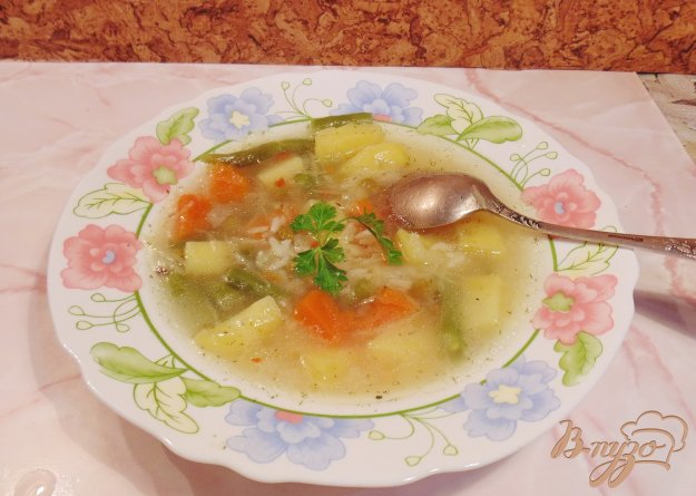 фото рецепта: Овощной суп с тыквой