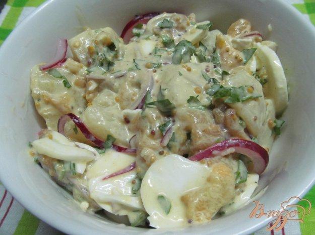 фото рецепта: Картофельный салат в горчичном соусе с яйцом