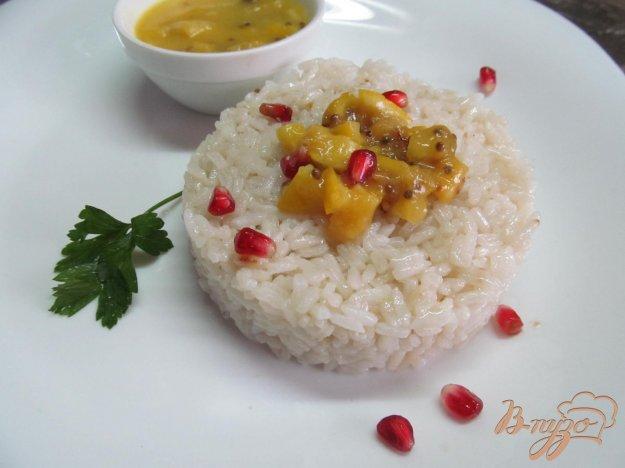фото рецепта: Рис с пикантным соусом из лимона