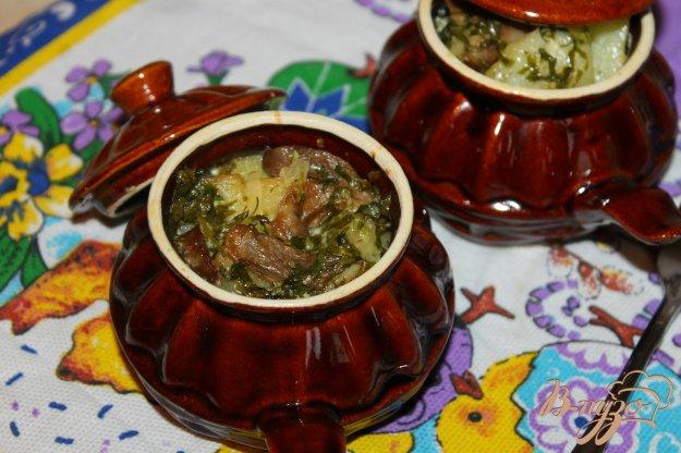 фото рецепта: Картофель в горшочках с лесными грибами и сливочным соусом
