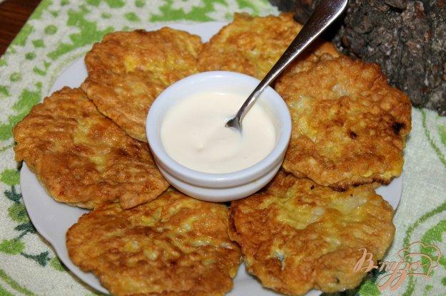 фото рецепта: Вафельные бризоли с рыбой и шпинатом