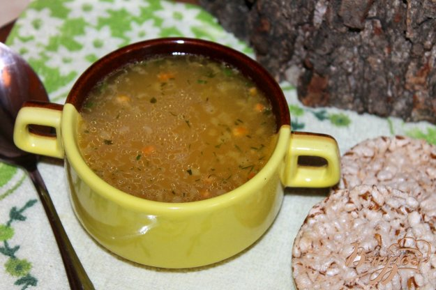 фото рецепта: Гороховый суп на утином бульоне с мясом и сосисками
