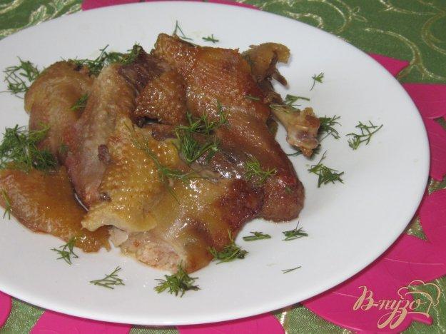 фото рецепта: Утка жареная с кетчупом и соевым соусом