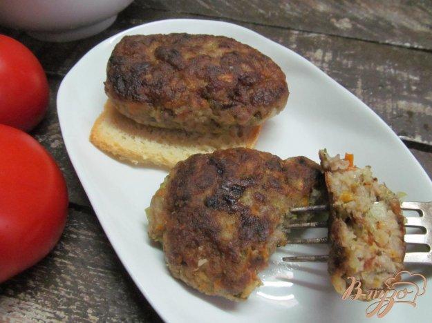фото рецепта: Котлеты с овощным и мясным фаршем