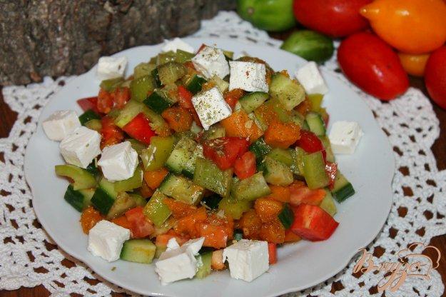 фото рецепта: Витаминный овощной салат с печеной тыквой