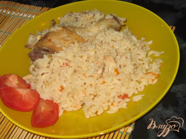 фото рецепта: Рисовая каша с курицей и помидорами