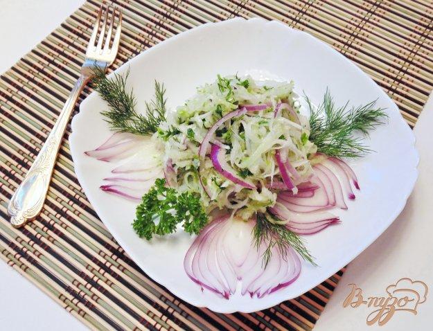 фото рецепта: Салат из белой и зеленой редьки