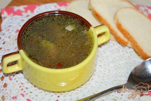 фото рецепта: Овощной суп с фрикадельками и лапшой