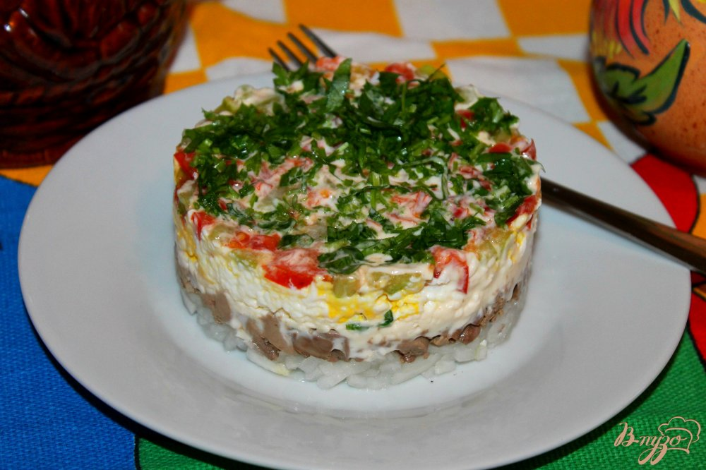 Салат печень с сыром рецепт с