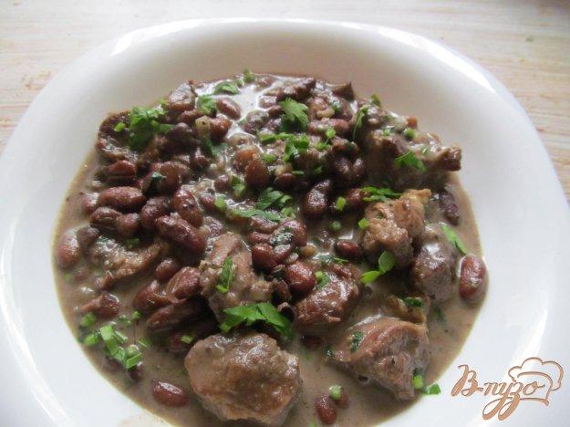 фото рецепта: Рагу из свинины с фасолью и сметаной