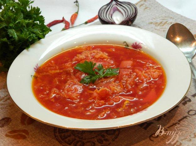 фото рецепта: Свекольный борщ с пекинской капустой