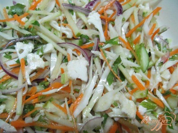 фото рецепта: Зимний салат из двух видом капусты