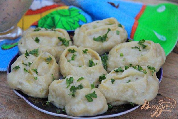 фото рецепта: Манты с тыквой и картофелем