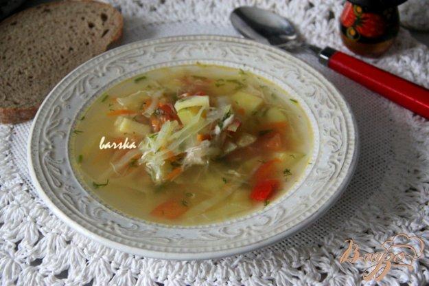 фото рецепта: Легкий куриный суп с овощами и кабачками