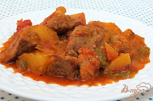 фото рецепта: Картофель тушёный с мясом и овощами