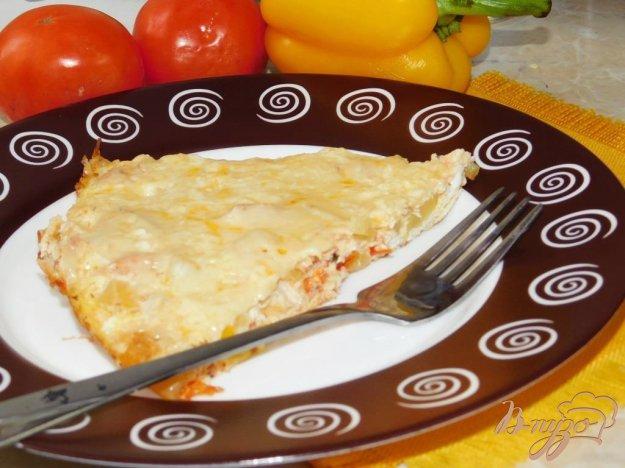 фото рецепта: Омлет с беконом и болгарским перцем