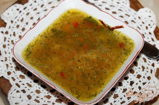 фото рецепта: Гречневый суп на мясном бульоне с утиным и куриным мясом