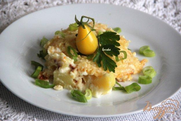 фото рецепта: Картофель, запеченный в сливочно-сырном соусе