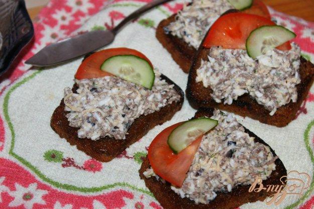 фото рецепта: Яичная намазка с печенью и твердым сыром