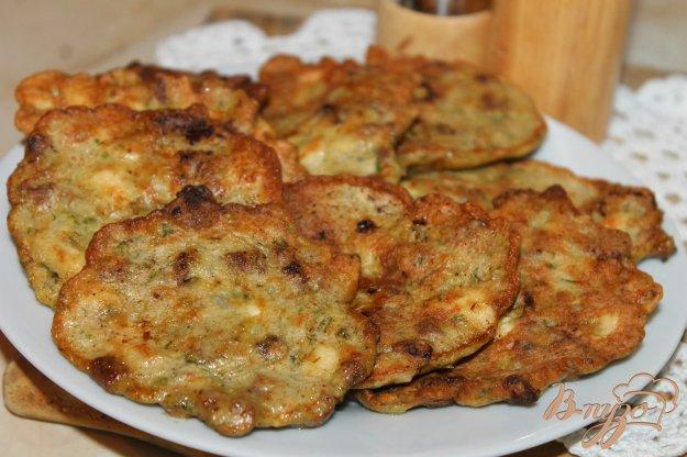 фото рецепта: Оладьи из куриного филе с печенью