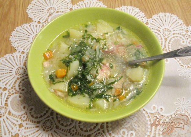 фото рецепта: Овощной суп со шпинатом