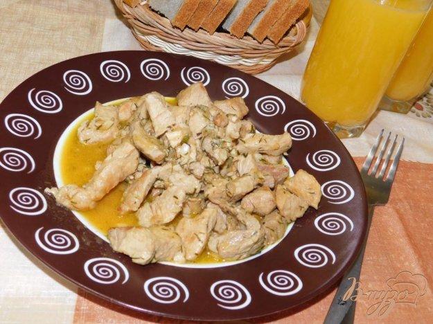 фото рецепта: Свинина с апельсинами и красным вином