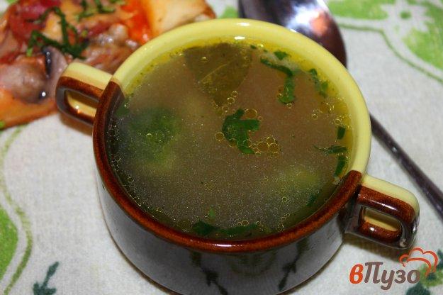 фото рецепта: Суп на бульоне с курицей и брокколи