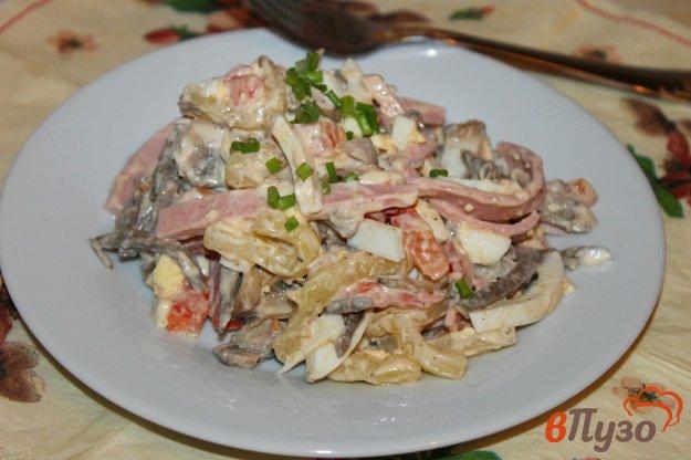 фото рецепта: Мясной салат с сыром и яйцом