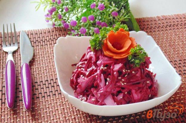 фото рецепта: Свекольный салат с сельдью и яйцом