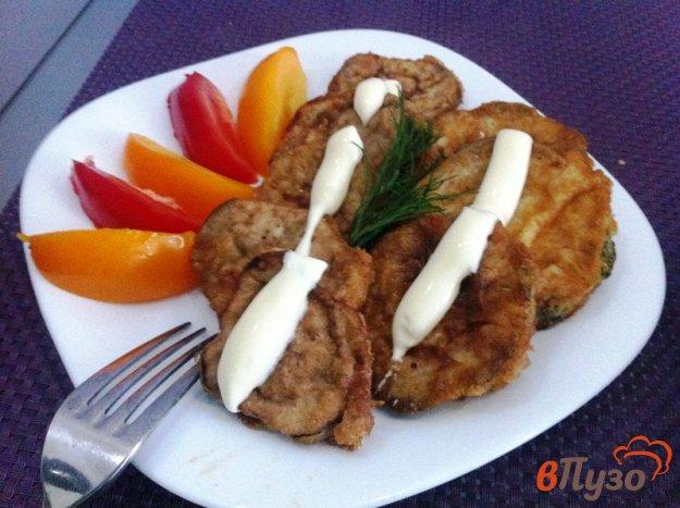 фото рецепта: Кабачок и баклажан в кляре