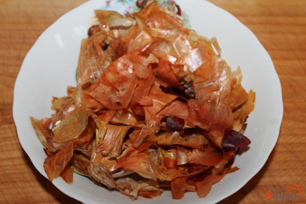 Фото приготовление рецепта: Сало вареное в луковой шелухе с чесночным вкусом шаг №2