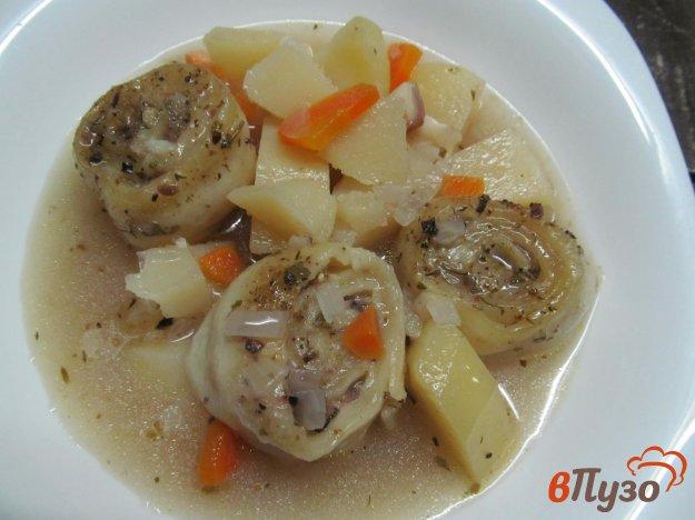 фото рецепта: Картофельный суп с ленивыми пельменями