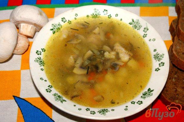 фото рецепта: Суп со свининой, грибами и вермишелью