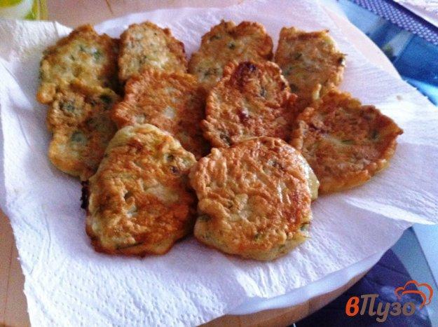 фото рецепта: Кабачковые оладьи с укропом