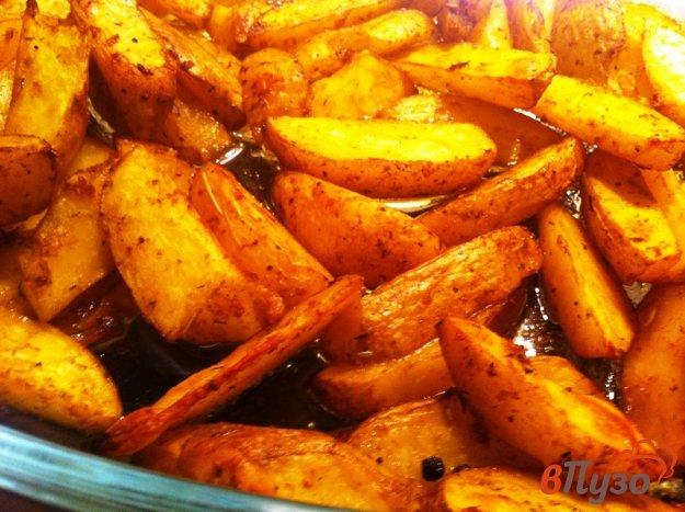 фото рецепта: Картофельные дольки из духовки