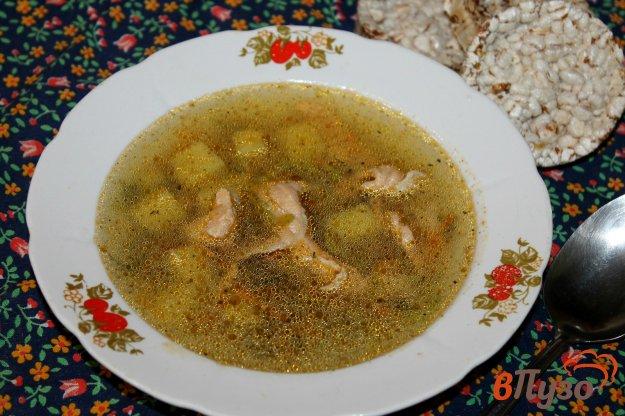 фото рецепта: Картофельный суп с красной рыбой