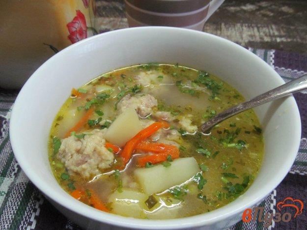 фото рецепта: Суп с клецками из картофеля с мясным фаршем