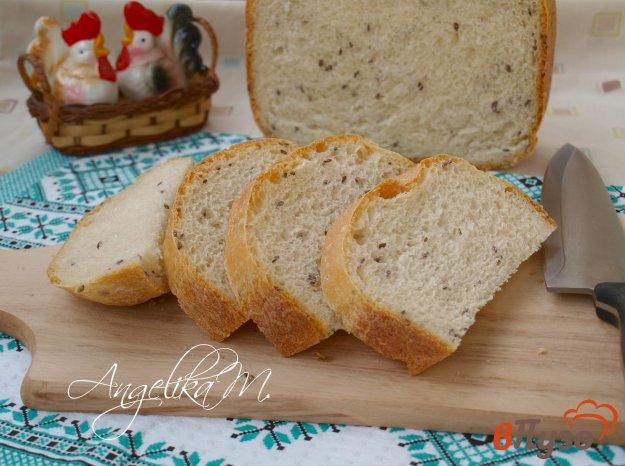 фото рецепта: Молочный хлеб с семенами льна в хлебопечке