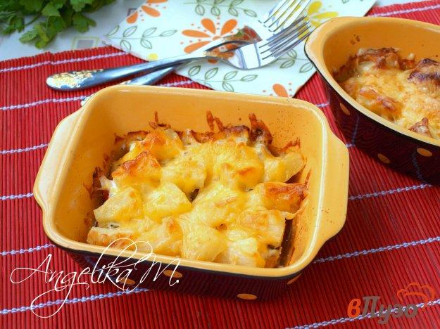 фото рецепта: Куриное филе запечённое с вялеными помидорами и ананасами