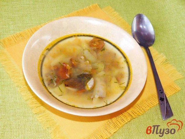 фото рецепта: Суп из лесных грибов с чечевицей