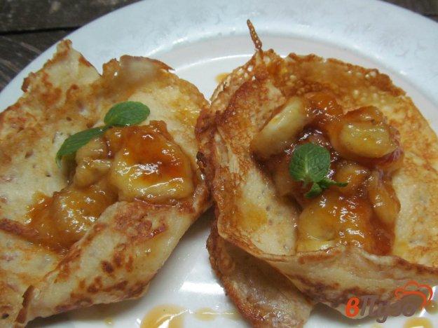 фото рецепта: Блины с карамельным бананом