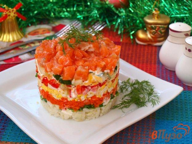 фото рецепта: Слоёный салат с сёмгой