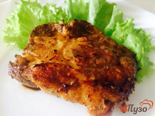 фото рецепта: Эскалоп из свинины со вкусом чеснока и розмарина