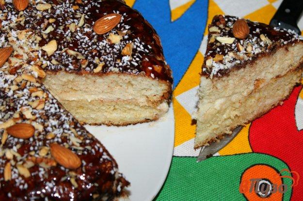 Домашний торт без яиц с орехами и шоколадной глазурью