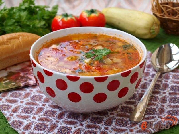 фото рецепта: Суп с кабачками и помидорами
