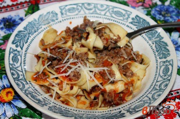 фото рецепта: Тальятелле с фаршем и помидорами