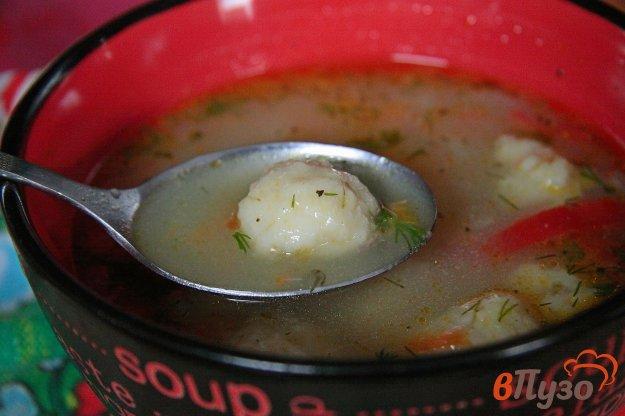 фото рецепта: Овощной суп с сырными шариками в мультиварке