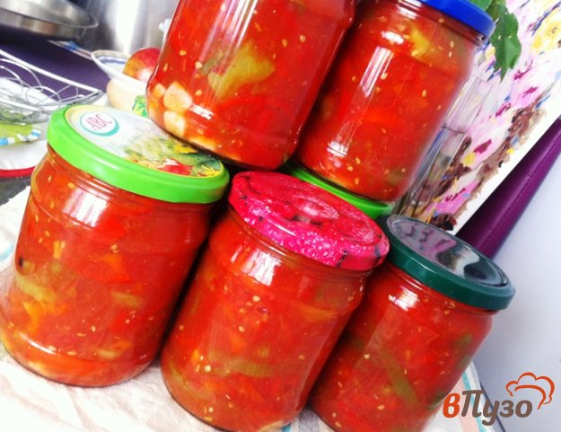 фото рецепта: Лечо в томатном соке
