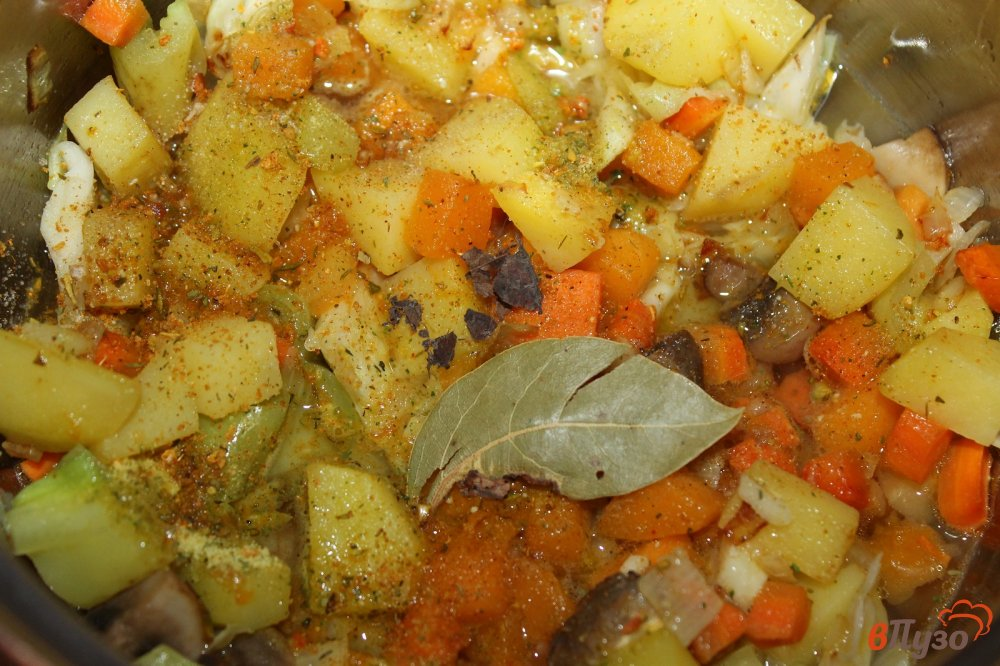 Как сделать рагу с картошкой и капустой