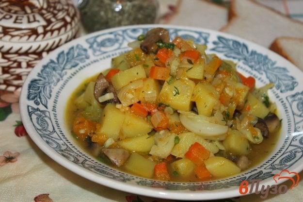 фото рецепта: Овощное рагу с картофелем, капустой и тыквой